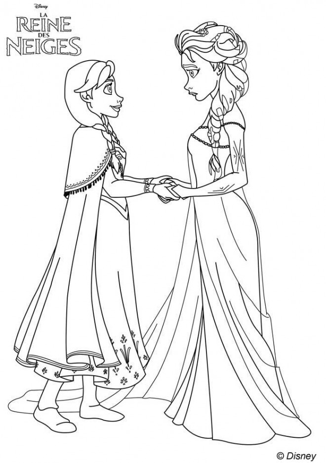 Coloriage et dessins gratuits Elsa la reine de neige  à imprimer à imprimer