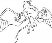 Coloriage et dessins gratuit Excalibur aigle magique à imprimer
