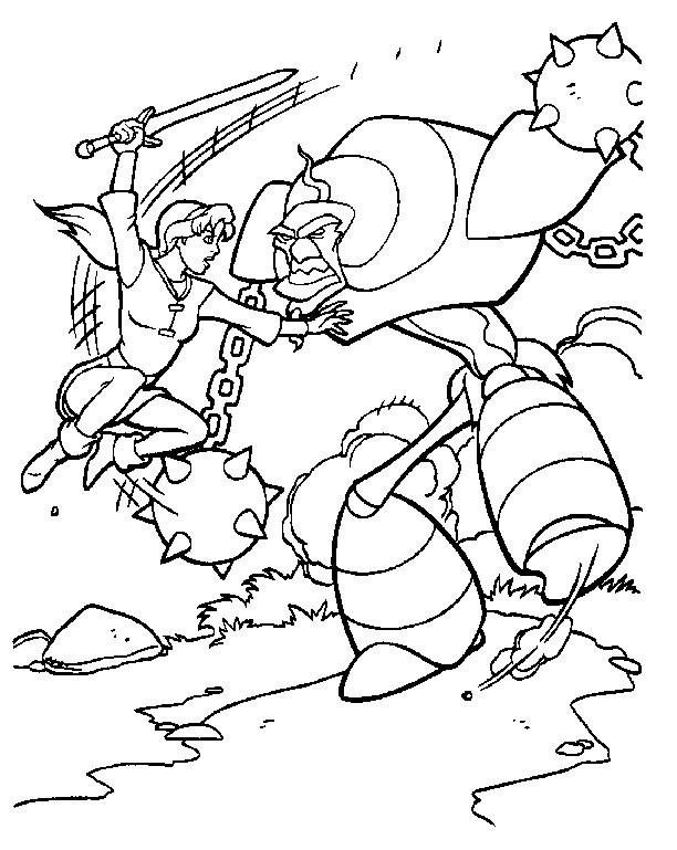 Coloriage et dessins gratuits Excalibur et La Bataille à imprimer