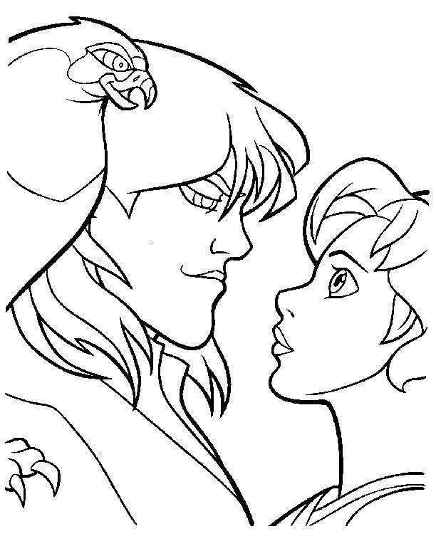 Coloriage et dessins gratuits Excalibur Kayley amoureuse à imprimer
