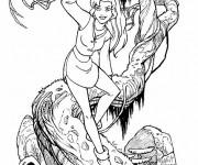 Coloriage et dessins gratuit Excalibur Kayley sur arbre à imprimer
