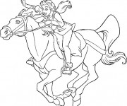 Coloriage Excalibur Kayley sur Cheval