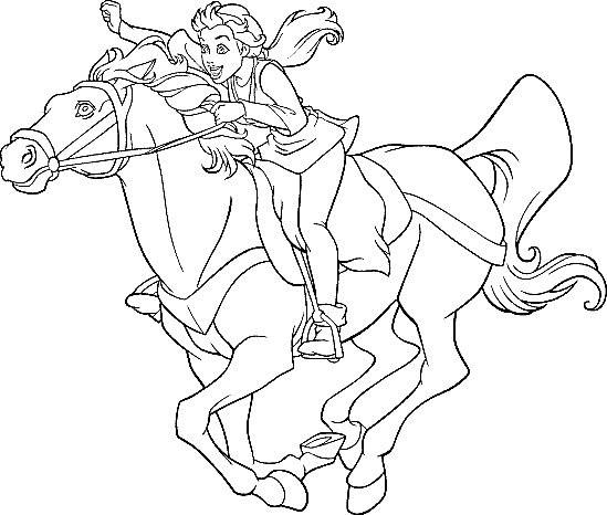 Coloriage et dessins gratuits Excalibur Kayley sur Cheval à imprimer