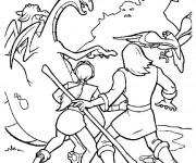Coloriage et dessins gratuit Excalibur l'épée magique personnages à imprimer