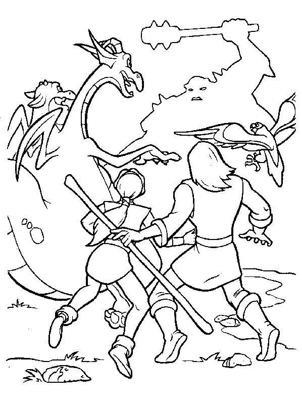 Coloriage et dessins gratuits Excalibur l'épée magique personnages à imprimer
