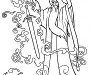 Coloriage et dessins gratuit Excalibur le magicien à imprimer