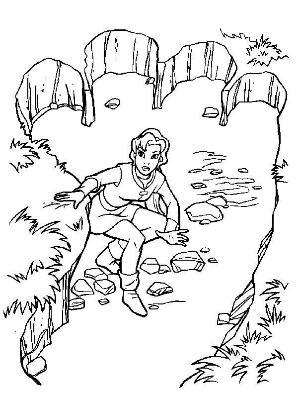 Coloriage et dessins gratuits Excalibur magique à imprimer