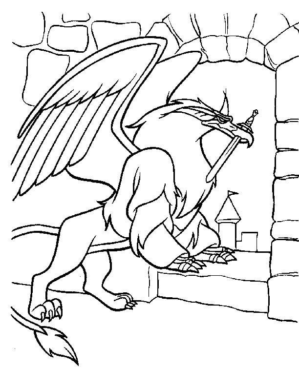 Coloriage et dessins gratuits l'épée magique dessin à imprimer