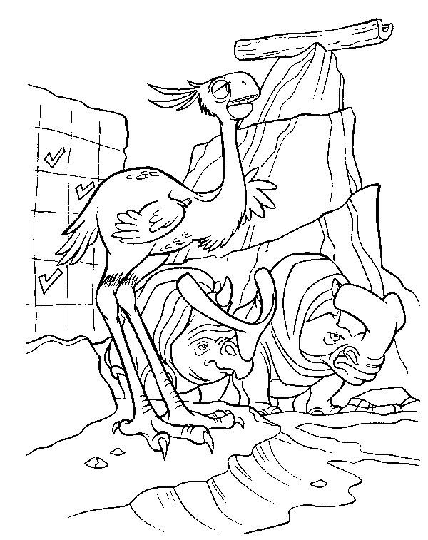 Coloriage et dessins gratuits Les animaux en fuite: Age de Glace à imprimer
