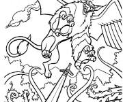 Coloriage et dessins gratuit Scène de Excalibur à imprimer