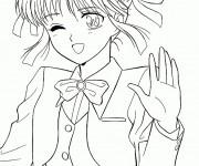 Coloriage dessin  Fille Manga 12