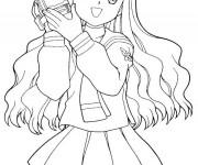 Coloriage dessin  Fille Manga 13