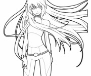 Coloriage Fille Manga 22