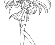 Coloriage dessin  Fille Manga 9