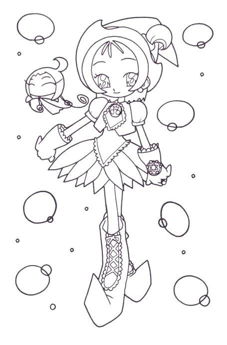 Coloriage et dessins gratuits Fille Manga en couleur à imprimer