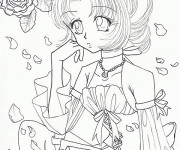 Coloriage Fille Manga Gratuit A Imprimer Liste 20 A 40