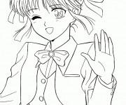 Coloriage et dessins gratuit Fille Manga magnifique à imprimer