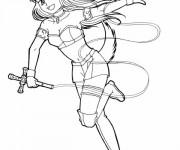 Coloriage et dessins gratuit Fille Manga Morikura à imprimer