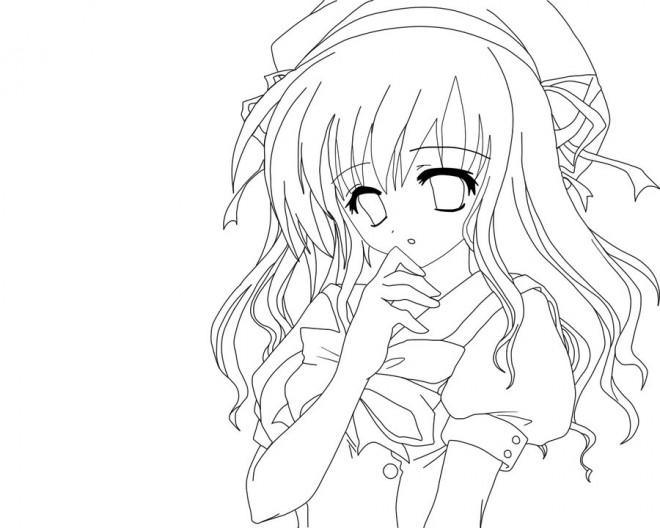 Coloriage fille manga naruto dessin gratuit imprimer - Coloriage manga difficile ...