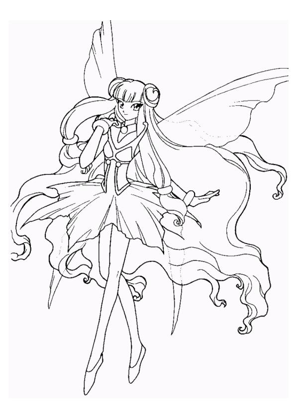 Coloriage et dessins gratuits Fille Manga Papillon à imprimer