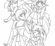 Coloriage Fille Manga Personnages
