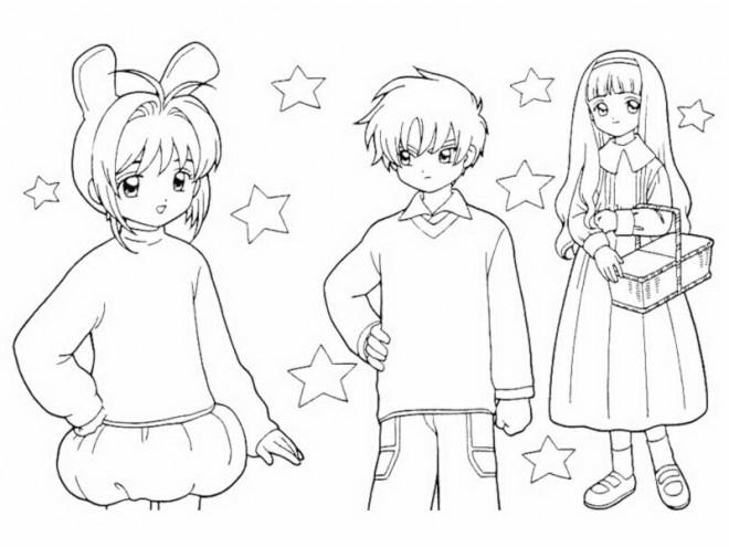 Coloriage et dessins gratuits Fille Manga pour Les Petits à imprimer