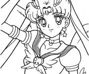Coloriage et dessins gratuit Fille Manga Princesse à imprimer