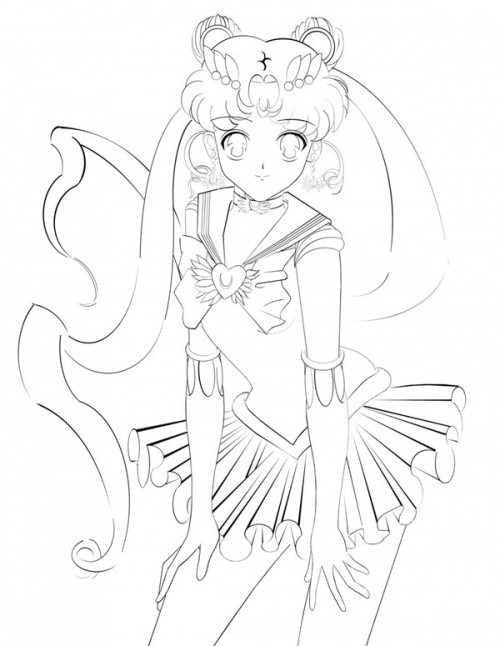 Coloriage Fille A Imprimer Princesse.Coloriage Fille Manga Princesse Magique Dessin Gratuit A