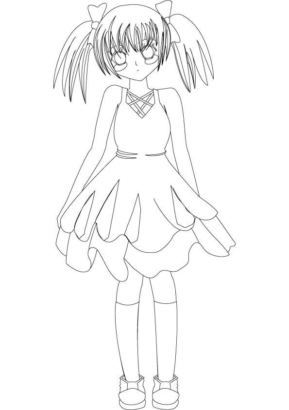 Coloriage et dessins gratuits Image de Fille Manga à imprimer