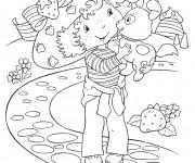 Coloriage et dessins gratuit Charlotte et son chien dessin animé à imprimer