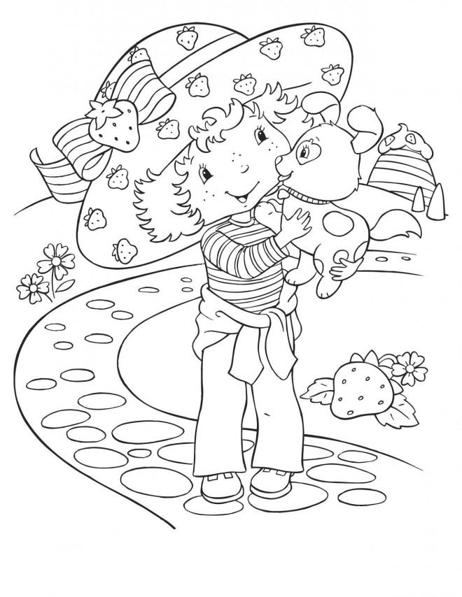 Coloriage et dessins gratuits Charlotte et son chien dessin animé à imprimer