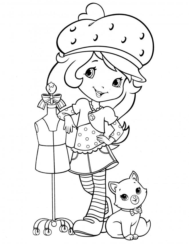 Coloriage et dessins gratuits Fraisinette à colorier en ligne à imprimer