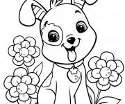 Coloriage et dessins gratuit Fraisinette chien à imprimer