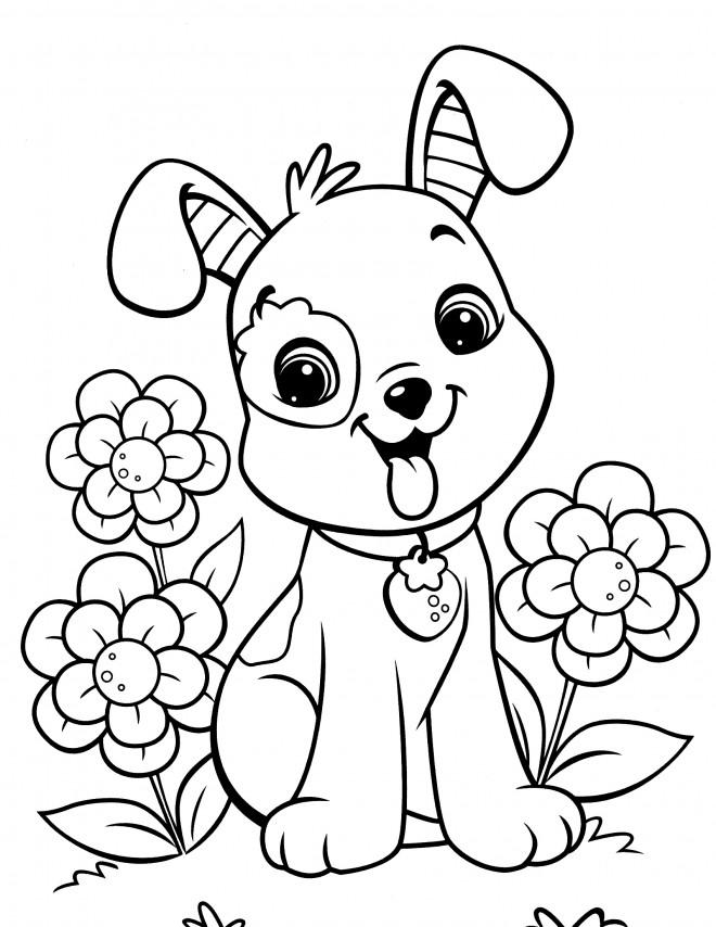 Coloriage et dessins gratuits Fraisinette chien à imprimer