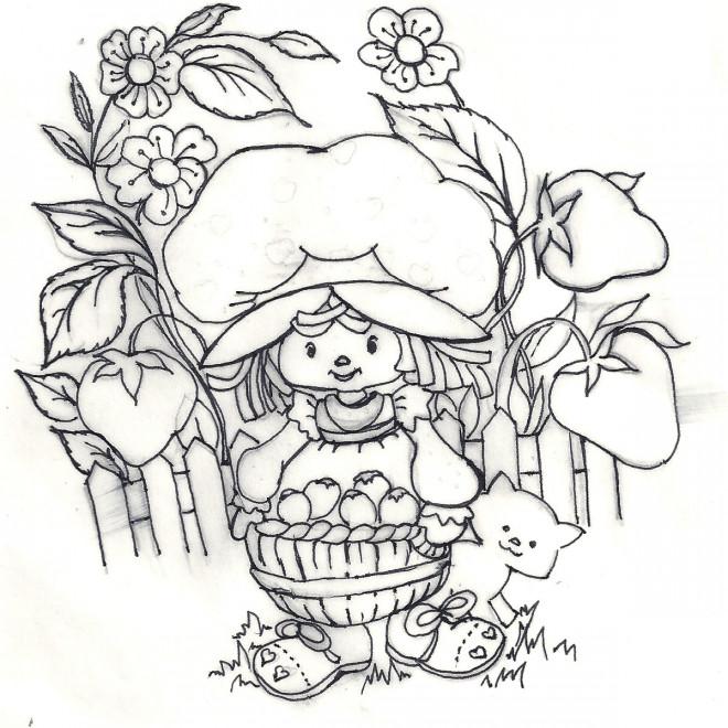 Coloriage et dessins gratuits Fraisinette dans son jardin à imprimer