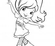 Coloriage et dessins gratuit Fraisinette danse à imprimer