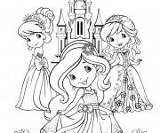 Coloriage et dessins gratuit Fraisinette devant son chateau à imprimer
