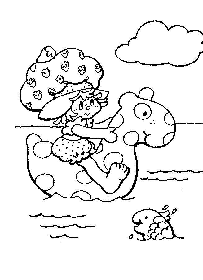 Coloriage et dessins gratuits Fraisinette en mer à imprimer