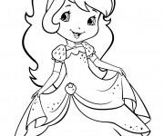 Coloriage et dessins gratuit Fraisinette en robe en ligne à imprimer