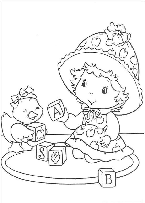 Coloriage et dessins gratuits Fraisinette  entrain de jouer à imprimer