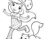 Coloriage et dessins gratuit Fraisinette entrain de s'amuser à imprimer