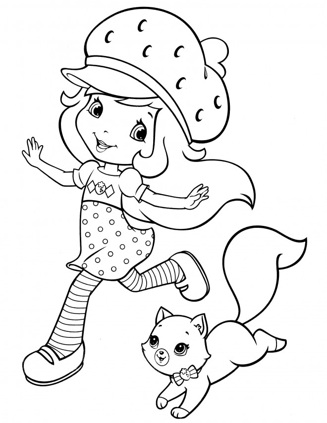 Coloriage et dessins gratuits Fraisinette entrain de s'amuser à imprimer
