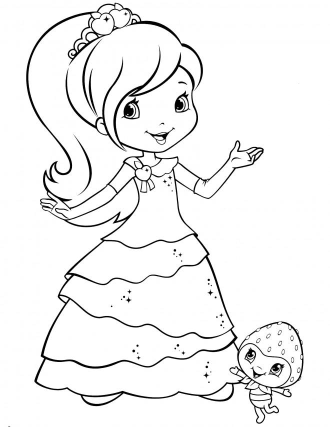 Coloriage et dessins gratuits Fraisinette heureuse à imprimer