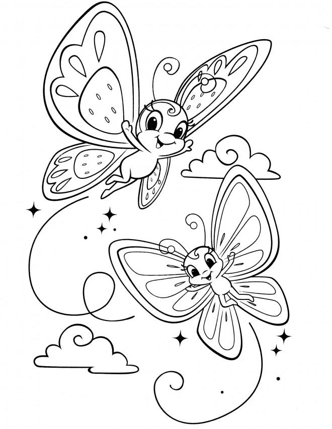Coloriage et dessins gratuits Fraisinette papillon à imprimer