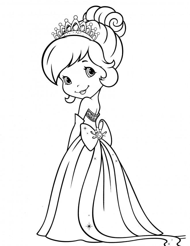 Coloriage et dessins gratuits Fraisinette princesse à imprimer