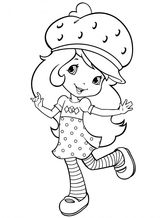 Coloriage et dessins gratuits Fraisinette saute à imprimer