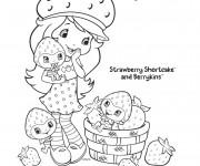 Coloriage et dessins gratuit Fraisinette sourit en ligne à imprimer