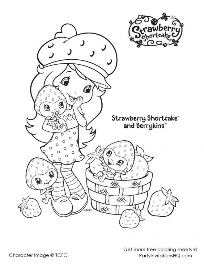 Coloriage et dessins gratuits Fraisinette sourit en ligne à imprimer