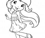 Coloriage et dessins gratuit La belle Fraisinette à imprimer
