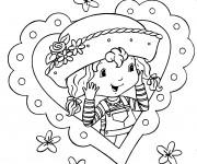 Coloriage et dessins gratuit Portrait de Fraisinette à imprimer